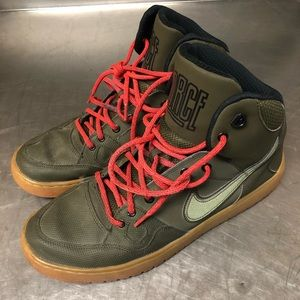 NIKE Army green mens 12 air force one HIGH TOP